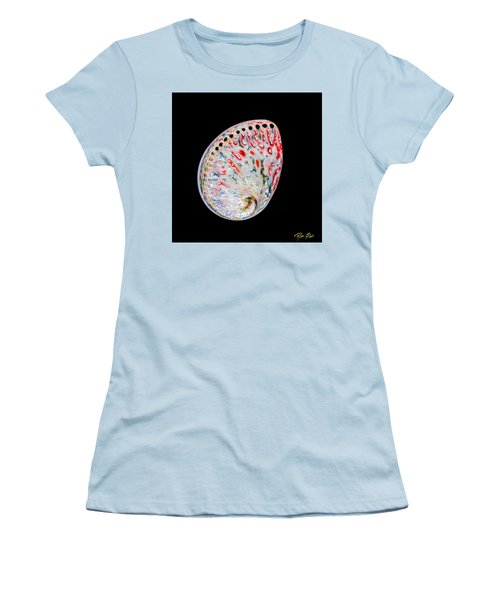 Women's T-Shirt (Athletic Fit) featuring the photograph Abalone - Touches Of Red by Rikk Flohr