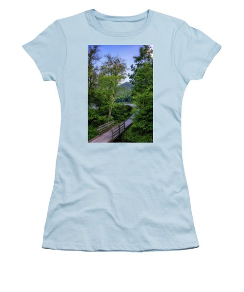 Abbott Lake Trail Women's T-Shirt (Athletic Fit)