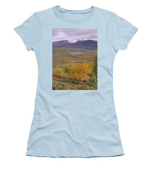 Abisko Nationalpark Women's T-Shirt (Junior Cut) by Thomas M Pikolin