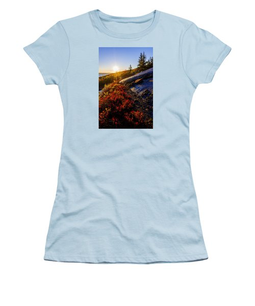Above Bar Harbor Women's T-Shirt (Athletic Fit)