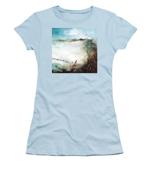 Abstract Barbwire Pasture Landscape Women's T-Shirt (Junior Cut) by Michele Carter