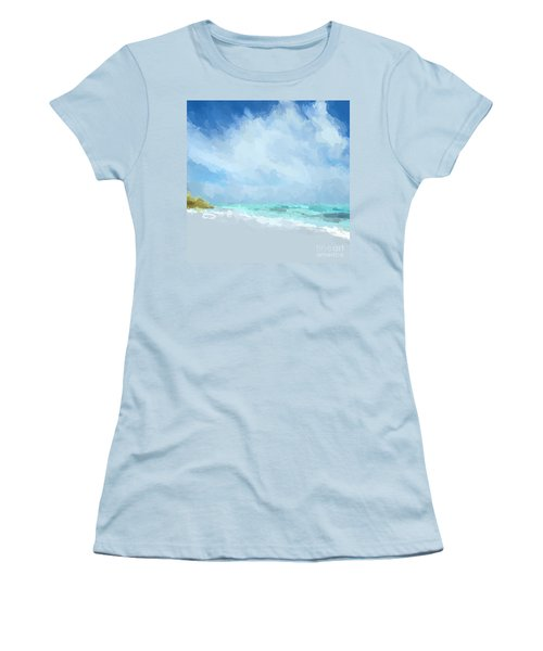 Abstract Beach Afternoon  Women's T-Shirt (Junior Cut) by Anthony Fishburne