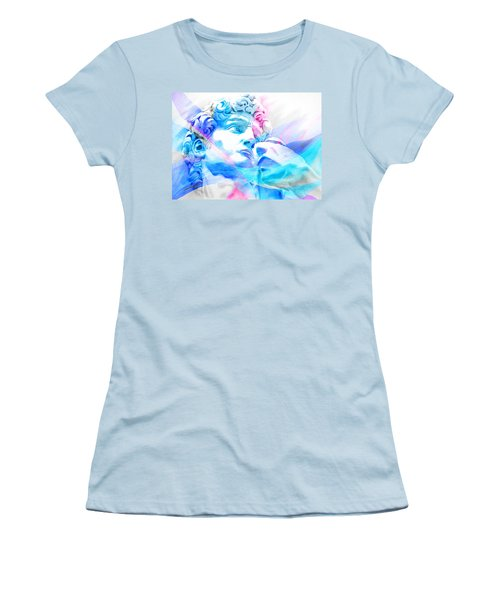 Women's T-Shirt (Junior Cut) featuring the painting Abstract David Michelangelo 3 by J- J- Espinoza