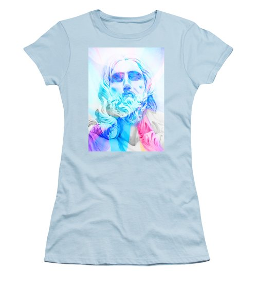 Women's T-Shirt (Junior Cut) featuring the painting Abstract Jesus 3 by J- J- Espinoza