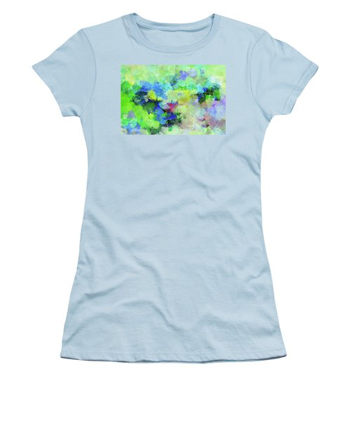 Women's T-Shirt (Junior Cut) featuring the painting Abstract Landscape Painting by Ayse Deniz