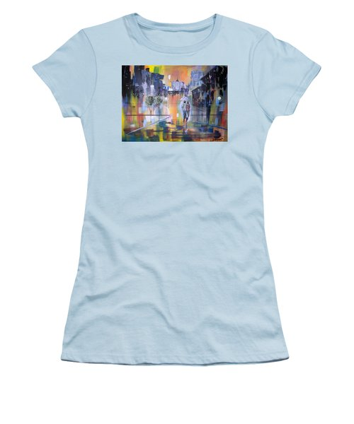 Abstract Of Motion Women's T-Shirt (Athletic Fit)