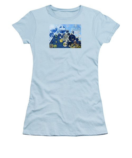 Abstract Painting - Kashmir Blue Women's T-Shirt (Athletic Fit)