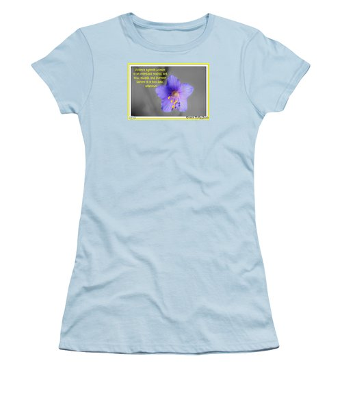 Act Now And Forever Women's T-Shirt (Junior Cut)
