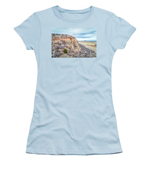 aerial view of northern Colorado foothills  Women's T-Shirt (Athletic Fit)