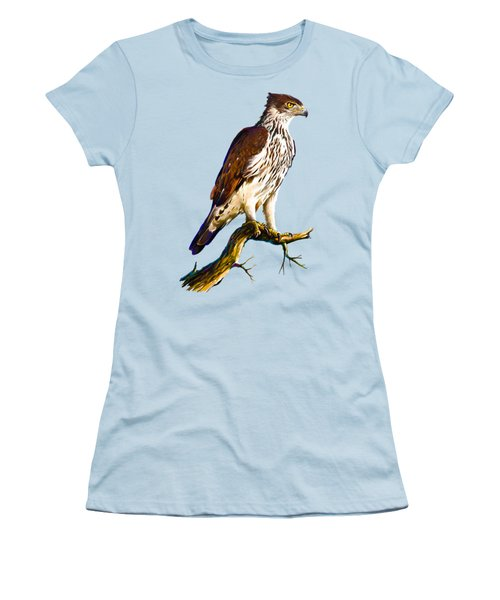 African Hawk Eagle Women's T-Shirt (Junior Cut) by Anthony Mwangi