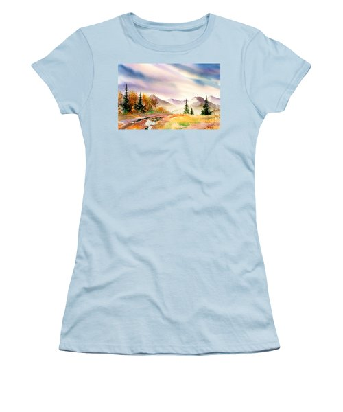 Women's T-Shirt (Junior Cut) featuring the painting After The Rain by Teresa Ascone