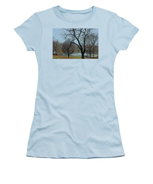 Women's T-Shirt (Junior Cut) featuring the photograph Afternoon In The Park by Sandy Moulder