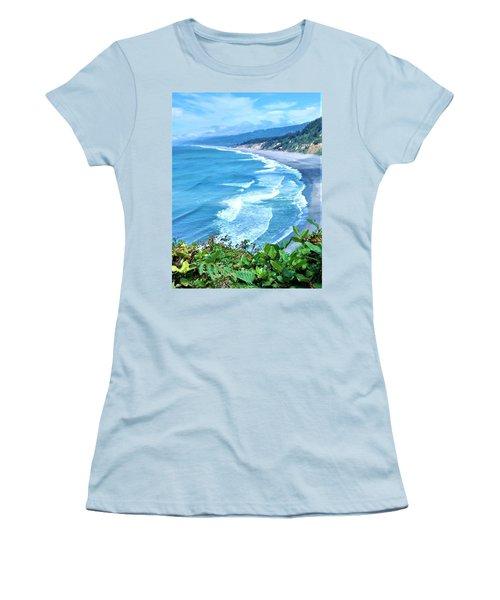 Agate Beach Women's T-Shirt (Athletic Fit)