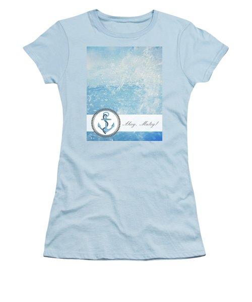 Ahoy Matey Women's T-Shirt (Athletic Fit)