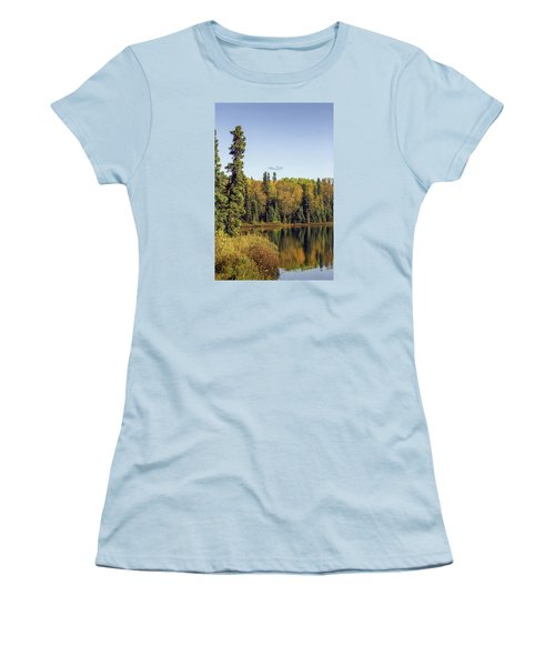 Alaskan Lake In Autumn Women's T-Shirt (Athletic Fit)