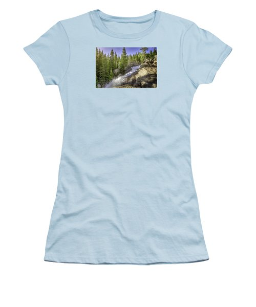 Alberta Falls Women's T-Shirt (Junior Cut) by Mary Angelini
