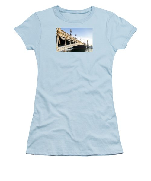 Alexandre IIi Bridge In Paris France Early Morning Women's T-Shirt (Athletic Fit)