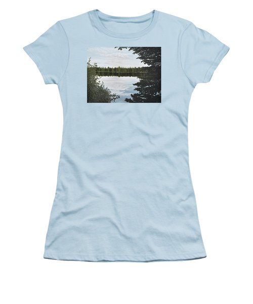 Women's T-Shirt (Junior Cut) featuring the painting Algonquin Park by Kenneth M  Kirsch