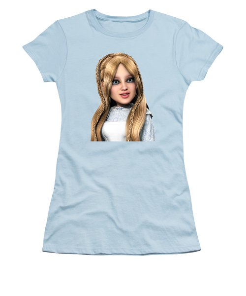 Alice Portrait Women's T-Shirt (Junior Cut) by Methune Hively