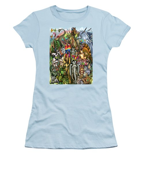 All Creatures Great Small Women's T-Shirt (Junior Cut) by Kevin Middleton
