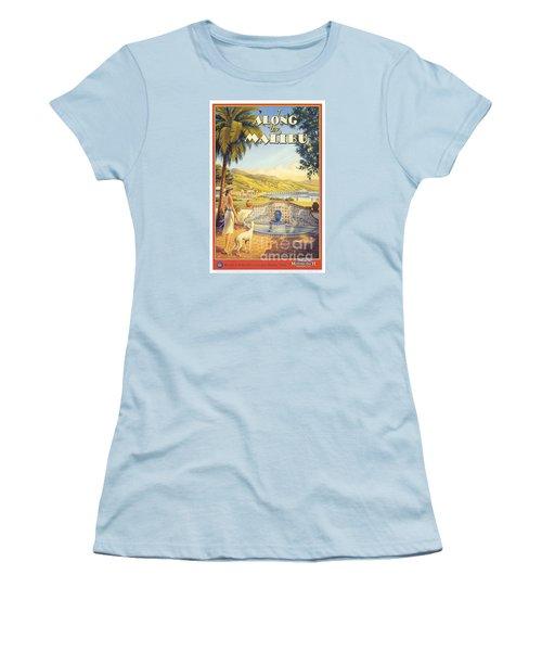 Along The Malibu Women's T-Shirt (Junior Cut) by Nostalgic Prints