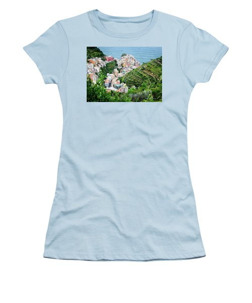 Along The Via Del Amore Women's T-Shirt (Junior Cut) by William Beuther