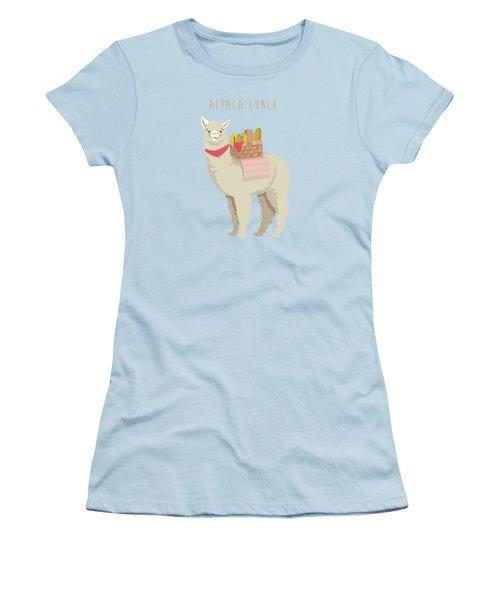 Alpaca Lunch Women's T-Shirt (Junior Cut) by Little Bunny Sunshine