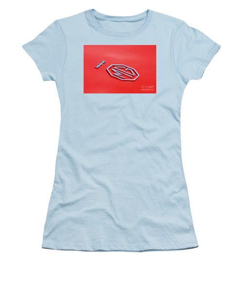 Women's T-Shirt (Athletic Fit) featuring the photograph Aluminum Font by Stephen Mitchell