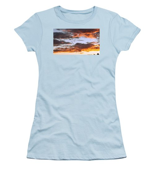 Glorious Clouds At Sunset Women's T-Shirt (Athletic Fit)