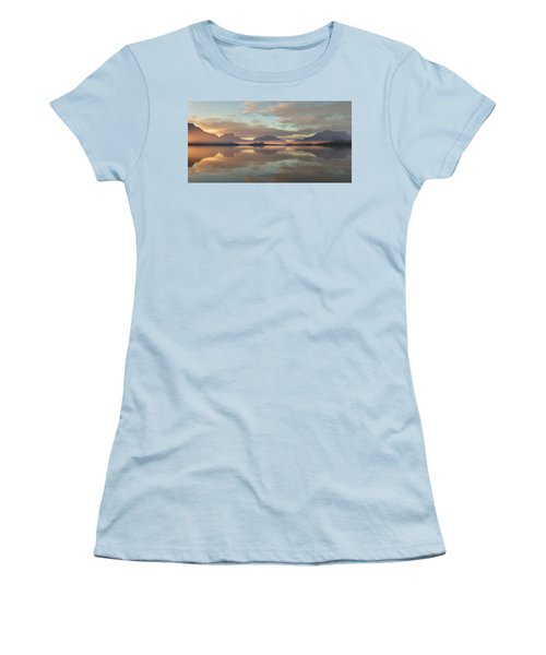 Women's T-Shirt (Junior Cut) featuring the digital art Salmon Lake Sunrise by Mark Greenberg