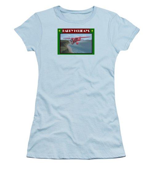 Women's T-Shirt (Junior Cut) featuring the painting Amelia's Vega Christmas Card by Stuart Swartz