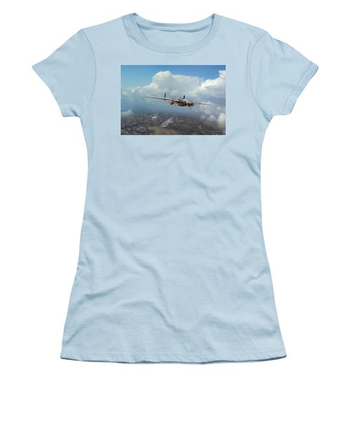 Women's T-Shirt (Junior Cut) featuring the digital art America Strikes Back by Peter Chilelli