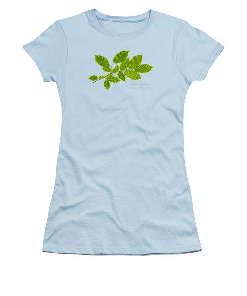 Women's T-Shirt (Junior Cut) featuring the photograph American Hornbeam by Christina Rollo