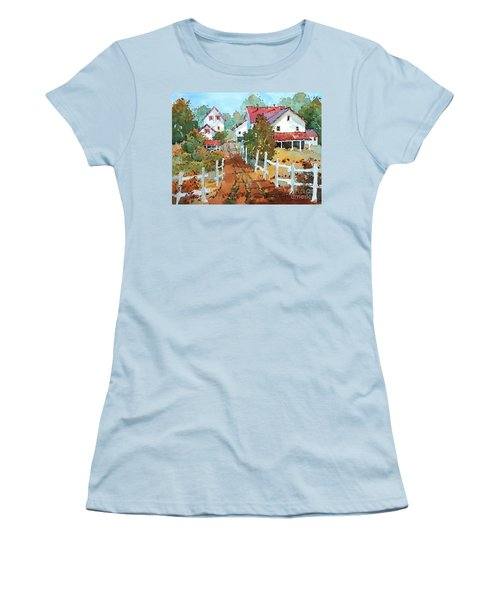 Amish Farm Women's T-Shirt (Athletic Fit)