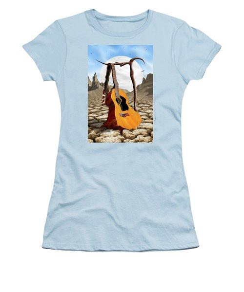 An Acoustic Nightmare Women's T-Shirt (Junior Cut) by Mike McGlothlen