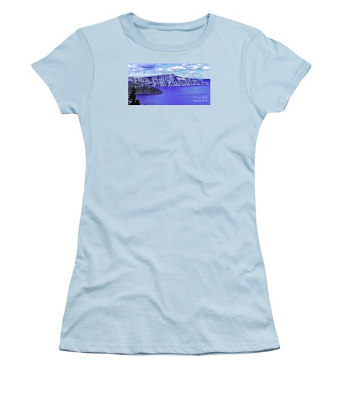 Women's T-Shirt (Junior Cut) featuring the photograph Ancient Waters by Nancy Marie Ricketts