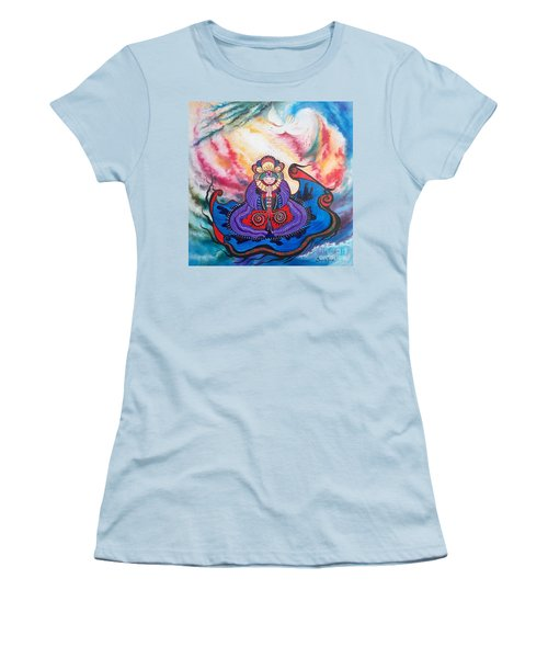 Women's T-Shirt (Junior Cut) featuring the painting And We Pray by Sigrid Tune