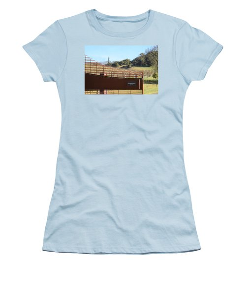 Anderson Valley Vineyard Women's T-Shirt (Athletic Fit)