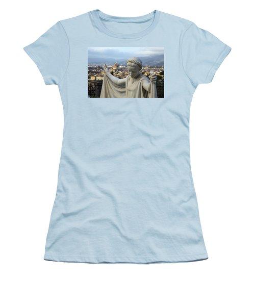 Angel Of Firenze Women's T-Shirt (Junior Cut) by Sonny Marcyan