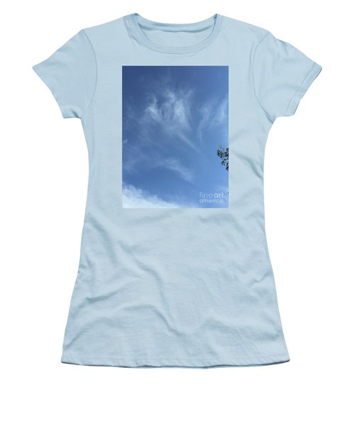 Angels Appear Over The Old Farm Women's T-Shirt (Athletic Fit)