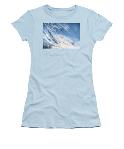Women's T-Shirt (Junior Cut) featuring the photograph Angry Clouds by Susan Stone