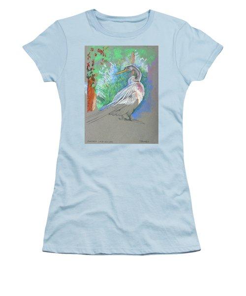Anhinga Sarasota Plein Air Women's T-Shirt (Athletic Fit)