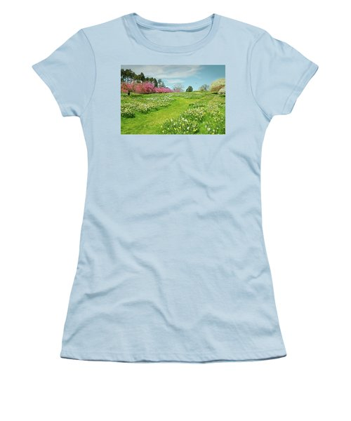 Women's T-Shirt (Junior Cut) featuring the photograph April Days by Diana Angstadt