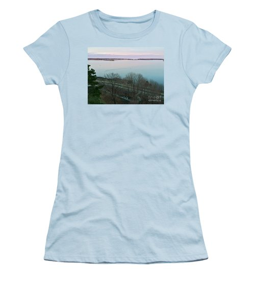 April Twilight On Casco Bay Women's T-Shirt (Athletic Fit)