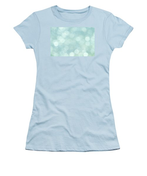 Women's T-Shirt (Junior Cut) featuring the photograph Aqua Abstract by Peggy Collins