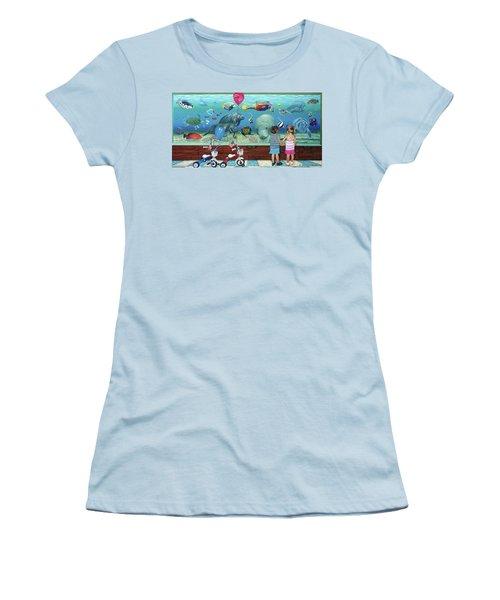 Aquarium With Twins Towel Version Women's T-Shirt (Athletic Fit)