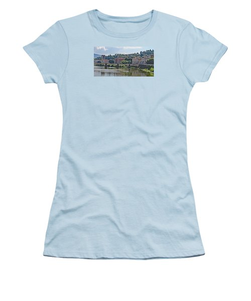 Arno River And Bridge Women's T-Shirt (Junior Cut) by Allan Levin
