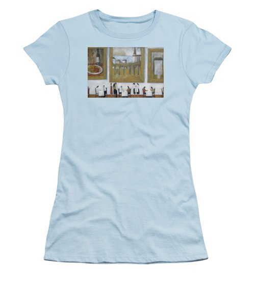 Women's T-Shirt (Junior Cut) featuring the painting Art Is Long, Life Is Short by Glenn Quist