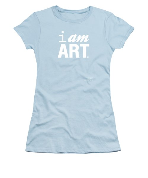 I Am Art- Shirt Women's T-Shirt (Junior Cut) by Linda Woods