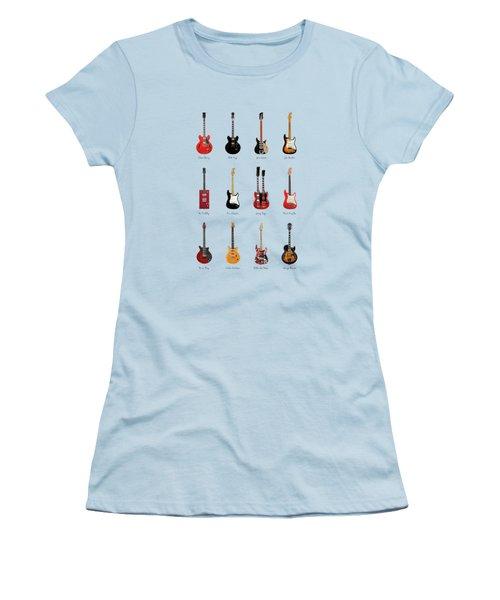 Guitar Icons No1 Women's T-Shirt (Junior Cut) by Mark Rogan